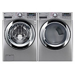 LG 4.5 Cu. Ft. Graphite Steel Steam Washer and 7.4 Cu. Ft. TrueSteam™ Gas Dryer