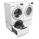 LG 4.3 Cu. Ft. Front-Load Washer and 7.3 Cu. Ft. Electric Dryer with SideKick™ Pedestal Washer and Drawer Pedestal