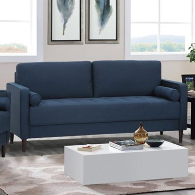 lifestyle solutions navy dante sofa | hhgregg