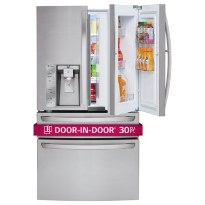 LG 30 Cu. Ft. Door-in-Door Stainless Steel 4-Door French Door Refrigerator