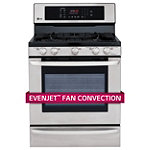 LG 30' Stainless Steel Convection Gas Range 1375.76