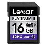 Lexar 16GB SD High-Capacity Memory Card, 200X Speed