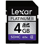 Lexar 4GB SD High-Capacity Memory Card, 100X Speed 12.95