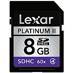 Lexar 8GB SD High-Capacity Memory Card, 100X Speed