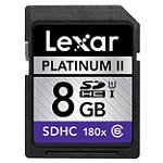 Lexar 8GB SD High-Capacity Memory Card, 180X Speed
