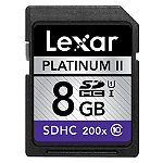 Lexar 8GB Platinum II SD High-Capacity UHS-I Card