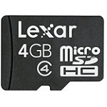 Lexar 4GB microSD™ Card with Adapter 9.99