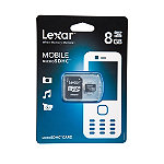 Lexar 8GB microSD™ Card with Adapter 14.99