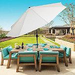 Pure Garden Tan 10 ft. Auto-Tilt Aluminum Patio Umbrella