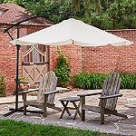 Pure Garden Tan Cantilever 10 ft. Hanging Aluminum Patio Umbrella