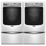 Maytag 4.5 Cu. Ft. Steam Front-Washer and 7.4 Cu. Ft. Steam Electric Dryer with 2 Pedestal Drawers