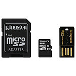 Kingston 8GB microSDHC Multi Kit Class 10 12.00