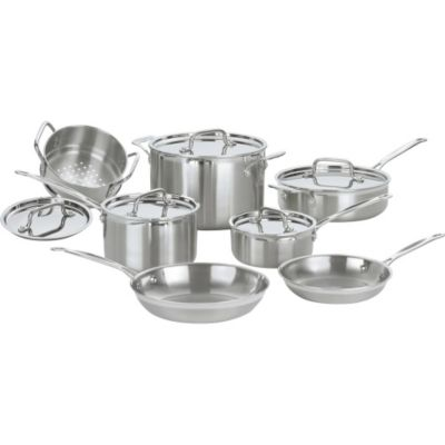 Cuisinart MultiClad Pro Triple Ply Stainless 12-Piece Cookware Set
