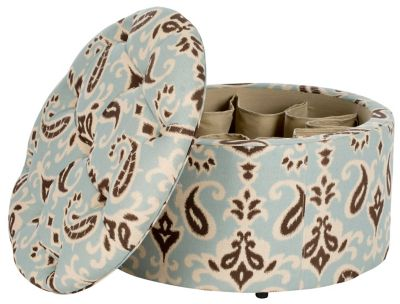 Safavieh Brown Ikat Tanisha Shoe Ottoman