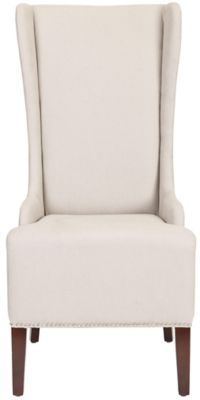 Safavieh Taupe Becall Dining Chair with Silver Nailheads