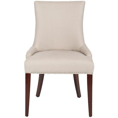 Safavieh Taupe Becca Linen Dining Chair