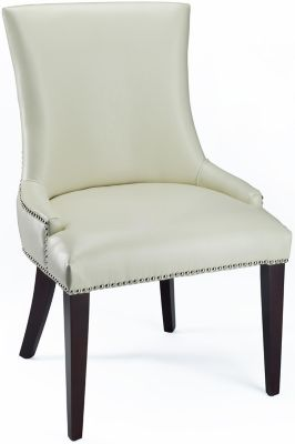 Safavieh Cream Becca Leather Dining Chair