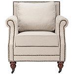 Safavieh Taupe Karsen Club Chair