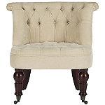 Safavieh Cream Carlin Tufted Chair