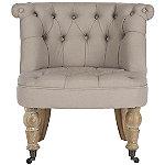 Safavieh Taupe Carlin Tufted Chair