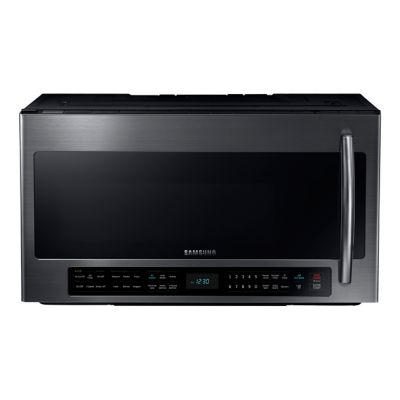 Samsung 2.1 Cu. Ft. 1,000-Watt Black Stainless Steel Over-the-Range Microwave
