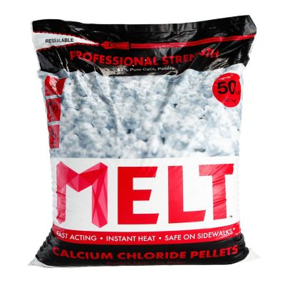 Snow Joe MELT 50 lb. Resealable Bag Calcium Chloride Pellets Ice Melter
