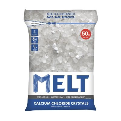 Snow Joe MELT 50-lb. Resealable Bag Calcium Chloride Crystals Ice Melter
