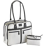 Mobile Edge 17' White Verona Notebook Tote