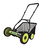 Sun Joe 18' Manual Reel Mower with Grass Catcher