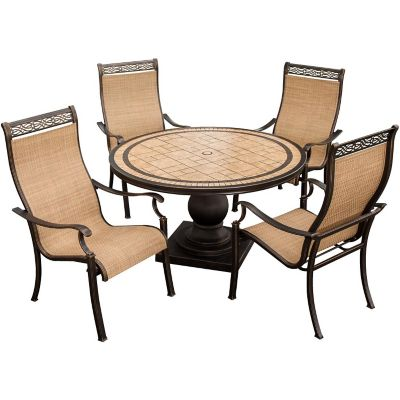 Hanover Monaco 5 Piece Outdoor Dining Set