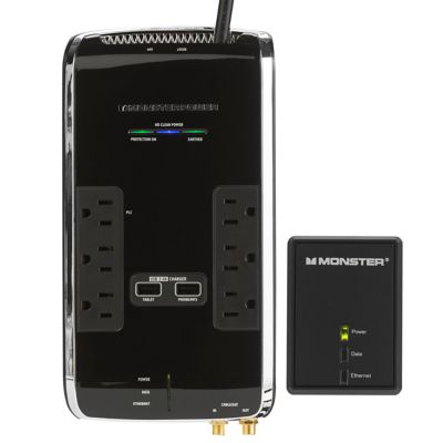Monster Cable Power Black Platinum 600 6-Outlet Surge Protector