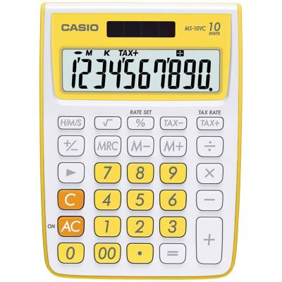 Casio Yellow 10-Digit Calculator