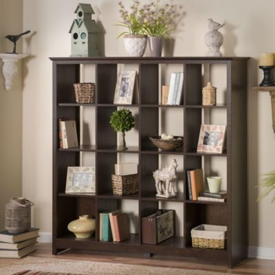 Bush Madison Cherry Buena Vista 16-Cube Bookcase