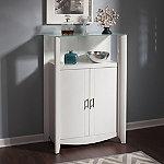 Bush Pure White Aero Medium Library Storage Cabinet