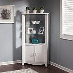 Bush Pure White Aero Tall Library Storage Cabinet
