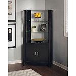 Bush Classic Black Aero Tall Library Storage Cabinet