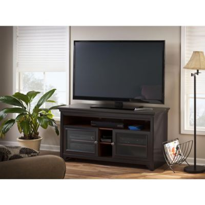 Bush Antique Black Stanford Stand for TVs Up to 60