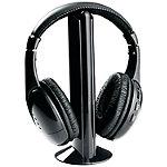 Naxa Professional 5-in-1 Wireless Headphones with Microphone & FM Radio