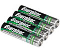 Energizer 4-Pack AAA NiMH Rechargeable Batteries