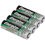 Energizer 4-Pack AA NiMH Rechargeable Batteries 14.99