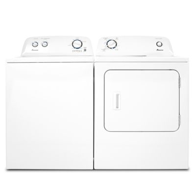 Amana 3.6 Cu. Ft. Top-Load Washer and 6.5 Cu. Ft. Electric Dryer