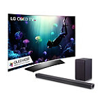 LG 55' Curved 4K Ultra HD 3D HDR webOS OLED Smart TV with FREE 2.1-Channel Soundbar and Wireless Subwoofer