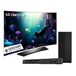 LG 65' Curved 4K Ultra HD 3D HDR webOS OLED Smart TV with FREE 2.1 Channel Soundbar and Wireless Subwoofer