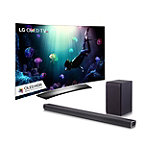 LG 65' Curved 4K Ultra HD 3D HDR webOS OLED Smart TV with FREE 2.1-Channel Soundbar and Wireless Subwoofer