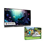 Save $150 on LG 65' 4K Ultra HD 3D HDR webOS OLED Smart TV and Microsoft Xbox One S 500GB Minecraft Favorites Bundle