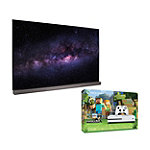 Save $150 on LG 65' 4K Ultra HD 3D webOS 3.0 OLED Smart TV and Microsoft Xbox One S 500GB Minecraft Favorites Bundle