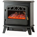 Warm House Ottawa Retro-Style Floor-Standing Electric Fireplace