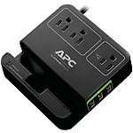 APC Black 3-Outlet SurgeArrest® Surge Protector with 3 USB Ports