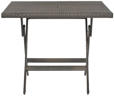 Safavieh Brown Samana Sqaure Folding Dining Table