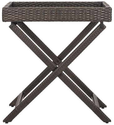 Safavieh Brown Bardia Folding Tray Table